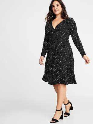Old Navy Fit & Flare Plus-Size Faux-Wrap Dress