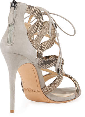 Alexandre Birman Elenara Python Caged Sandals