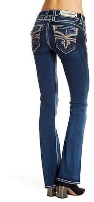 Rock Revival Madpink Topstitch Boot Cut Jeans