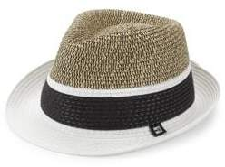 Cartier Block Headwear Block Headwear Men's Braided Color Block Fedora - Black