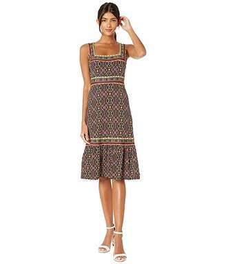 BCBGMAXAZRIA Printed Matte Jersey Midi Dress