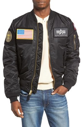Men's Alpha Industries Slim Fit Reversible Ma-1 Flex Bomber Jacket $165 thestylecure.com