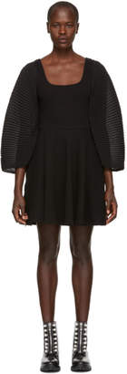 Opening Ceremony Black Plisse Fit Flare Dress