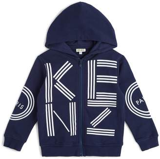Kenzo Logo Zip Front Hoodie