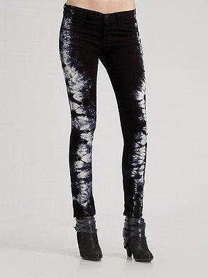 J Brand Tie Dye Twill Skinny Jeans