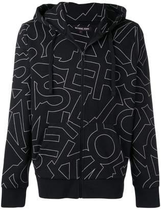 MICHAEL Michael Kors logo pattern bomber jacket