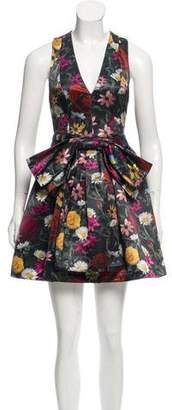Alice + Olivia Sleeveless Floral Dress