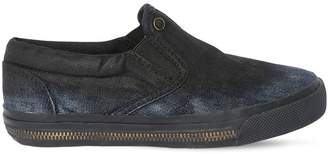 Diesel Zip Midsole Denim Slip-On Sneakers