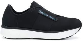 Prada platform logo sneakers