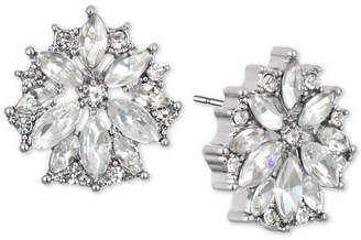 Badgley Mischka Gold-Tone Crystal Flower Stud Earrings