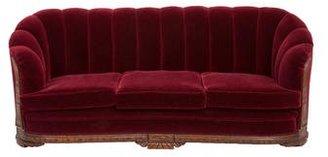 Art Deco Shell-Back Sofa