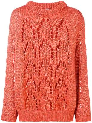 Chiara Bertani open knit sweater