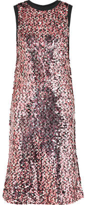 McQ Sequined Tulle Midi Dress - Pink