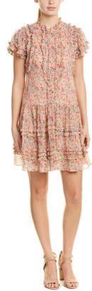 Rebecca Taylor Margo Floral Silk-Blend Shift Dress