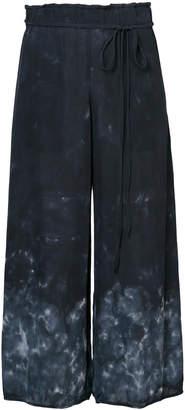 Raquel Allegra tie-dye palazzo trousers