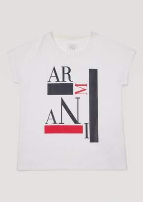 Armani Junior T-Shirt With Printed Design