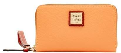Dooney & Bourke Pebble Grain Zip Around Phone Wristlet - APRICOT - STYLE
