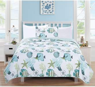 Home Fashion Designs Seaside Reversible Quilt Set