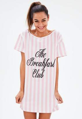 Missguided Pink The Breakfast Club Night Tshirt