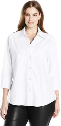 Foxcroft Women's Plus-Size Paige Essential Non Iron Blouse