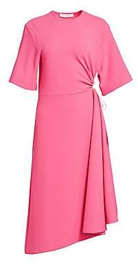 See by Chloe Women's Crepe Short Sleeve Midi Dress