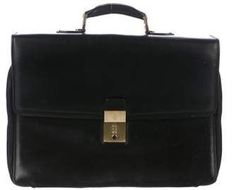 Mark Cross Leather Flap Briefcase