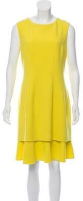 Oscar de la Renta Sleeveless Shift Dress w/ Tags Yellow Sleeveless Shift Dress w/ Tags