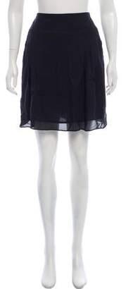 Cacharel Knee-Length Silk Skirt