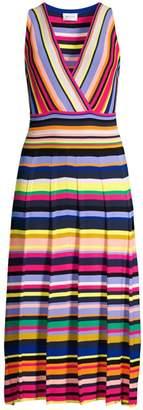 Milly Surplice Stripe Knit Dress