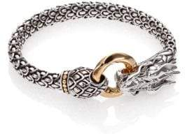 John Hardy Naga 18K Yellow Gold& Sterling Silver Dragon Bracelet