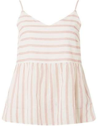 Dorothy Perkins Womens **Vero Moda Pink and White Striped Floaty Blouse