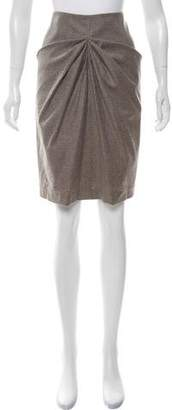 Gunex Draped Pencil Skirt