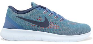 Nike - Free Flyknit Sneakers - Blue $110 thestylecure.com