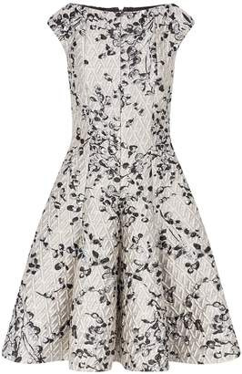 Talbot Runhof Embroidered Metallic Dress