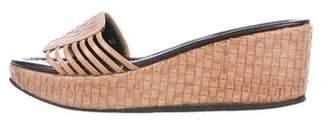 Donald J Pliner Syde Woven Leather Slide Sandals