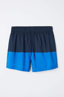 H&M Color-block Swim Shorts - Blue