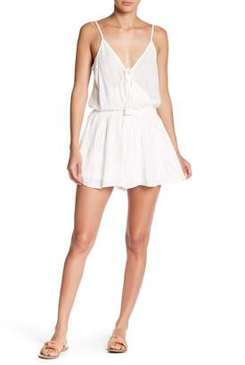 Love Stitch Solid Wrap Romper
