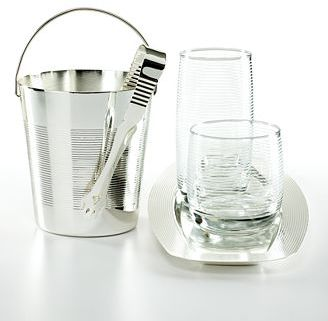 CLOSEOUT! Luminarc Ice Bucket with Tongs, Spiral