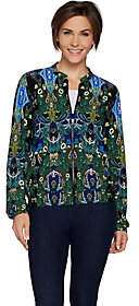 Women with Control Attitudes by Renee Zip Front Solid or PrintedBomber Jacket