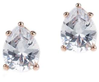 Kenneth Jay Lane CZ By Pear CZ Stud Earrings