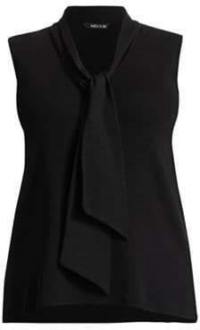 Misook Misook, Plus Size Tie-Neck Knit Tank Top