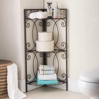 K&B Furniture BM1132 Metal Corner Bathroom Rack