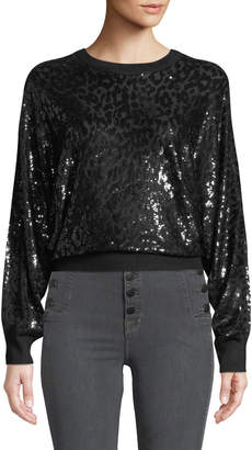 Michael Kors Sequined Leopard Sweatshirt