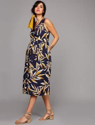 A Pea in the Pod Sash Belt Maternity Dress