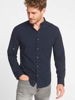 Old Navy Slim-Fit Built-In Flex Everyday Dobby Shirt for Men