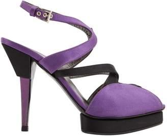 Prada Purple Cloth Heels