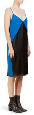 Cédric Charlier Diamond Block Slip Dress