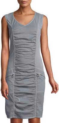 XCVI Banggai Ruched Poplin Dress