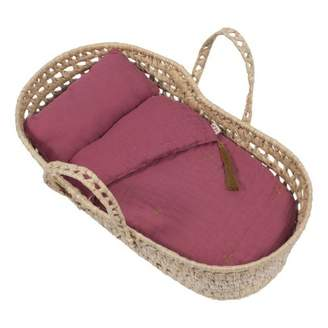 Numero 74 Doll's Bassinet, Mattress and Linen - Dusty Red