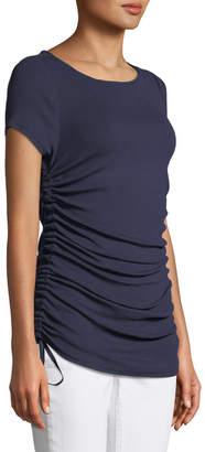 Elie Tahari Ciska Knit Ruched-Side Top